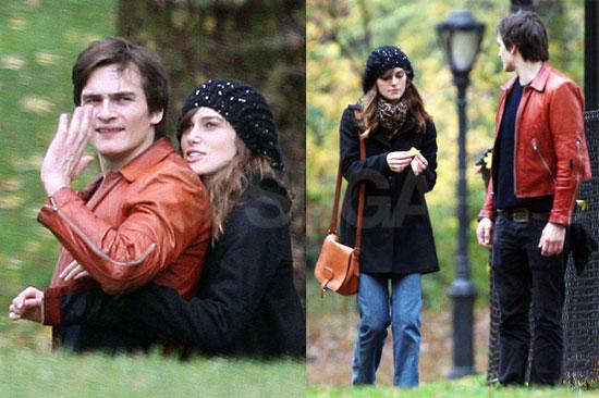 Keira and Rupert Walking Through NYC