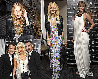 Photos of Nicole Richie, Lindsay Lohan, Mischa Barton, Christina Aguilera at Dsquared2 Event at Chateau Marmont in LA