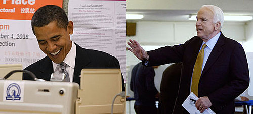 Photos of Barack Obama and John McCain Casting Their Votes on Election Day 2008