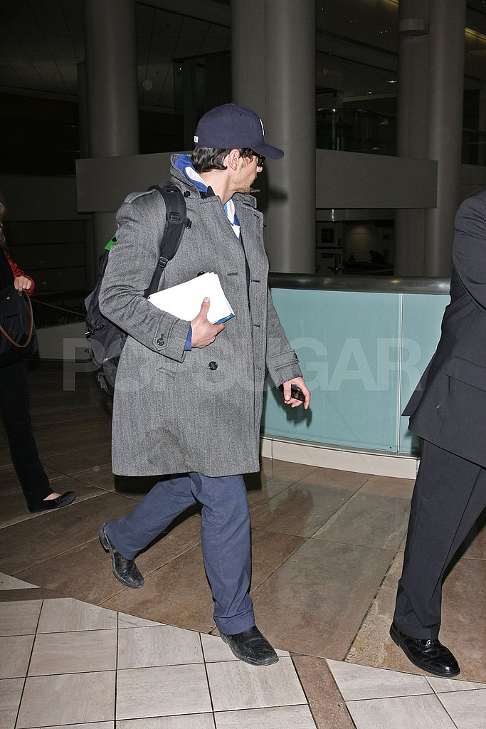 James Franco Leaves LAX