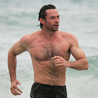 Hugh Jackman Shirtless in Bondi Beach