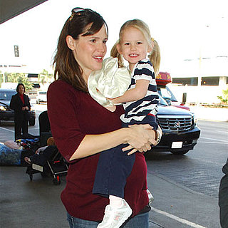Jennifer Garner and Violet Affleck At LAX