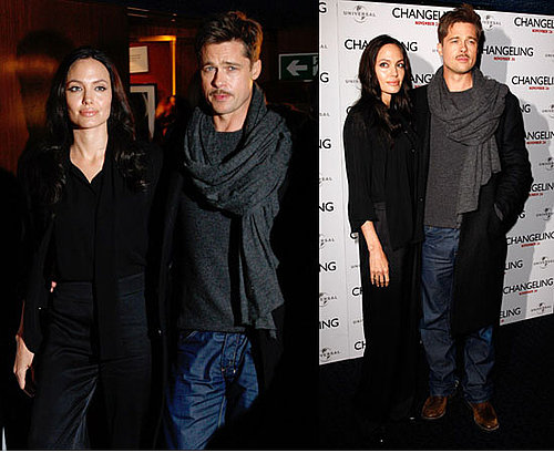 Photos of Brad Pitt and Angelina Jolie at Changeling Photo call in London