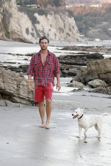 Matthew McConaughey Playing With Dog