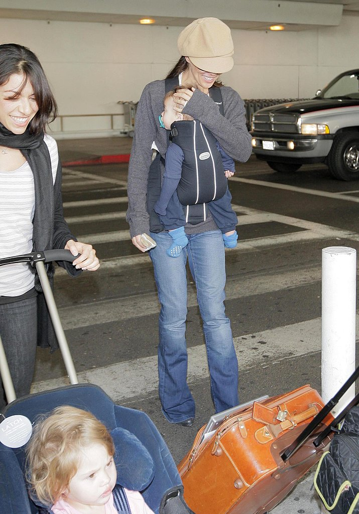 Brooke Burke Arrives at LAX