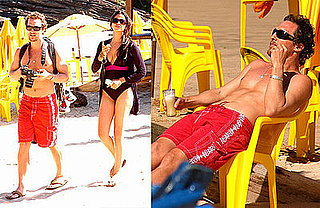 Photos of Matthew McConaughey and Camila Alves at the Beach in Brazil
