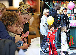 Heidi Klum and Seal With Henry, Leni, and Johan at The Grove in LA