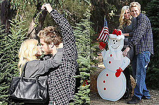 Photos of Heidi and Spencer Christmas Tree Shopping