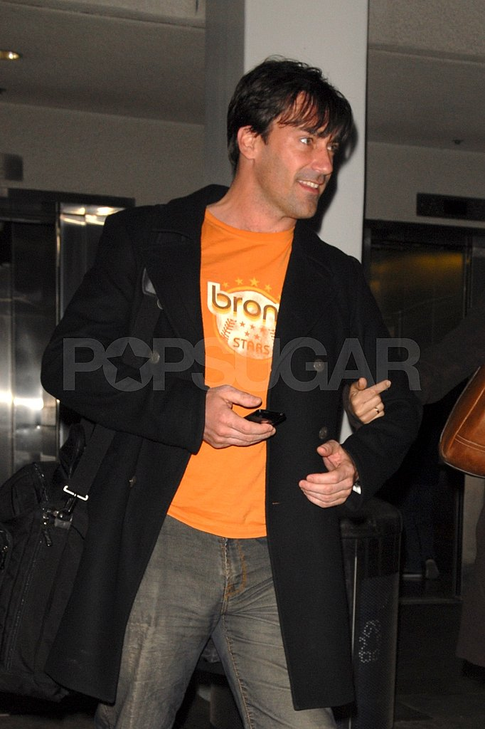Jon Hamm Arrives at LAX