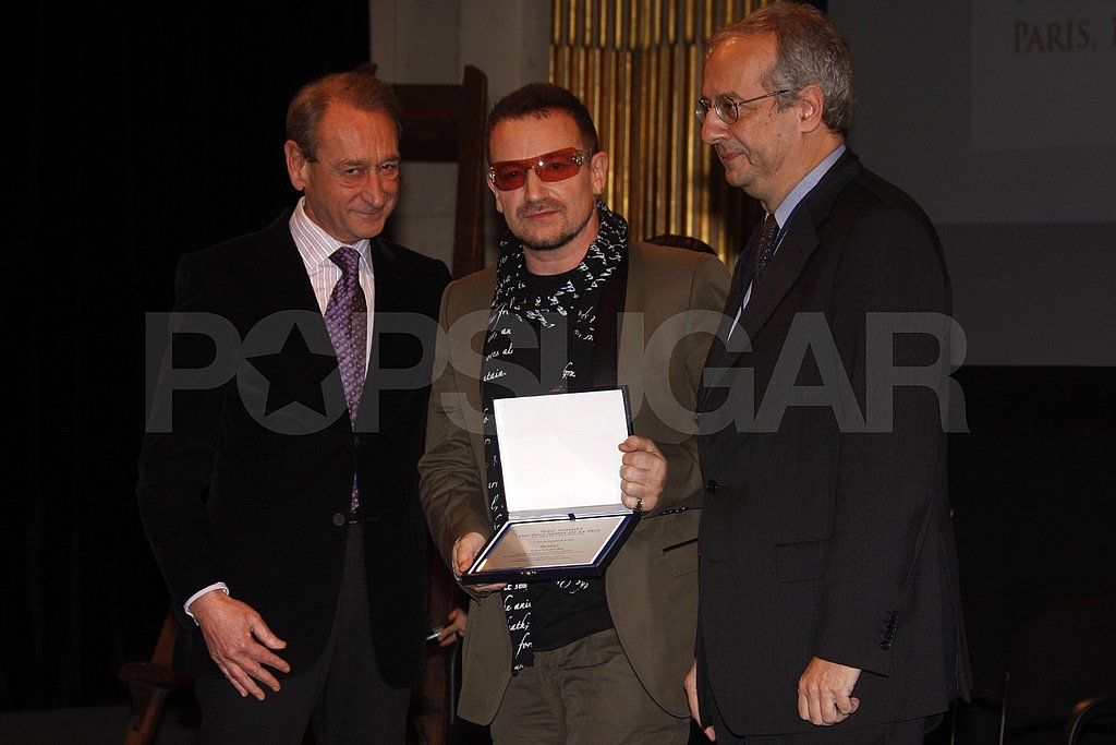 Bono and Penelope at Nobel Peace Prize World Summit