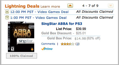 Geek Tip: Save Serious Cash With Amazon's Gold Box Lightning Deals