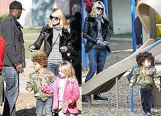 Photos of Heidi Klum, Seal, Johan Samuel, Henry Samuel, Leni Klum at the Playground in LA