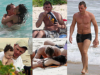 Photos of Daniel Craig Shirtless in St Barths with Satsuki Mitchell