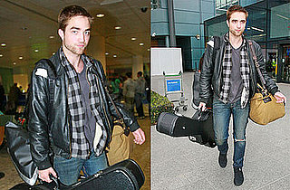 Photos of Twilight Hottie Robert Pattinson Landing in London