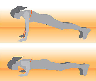 Push-Up With Resistance Band