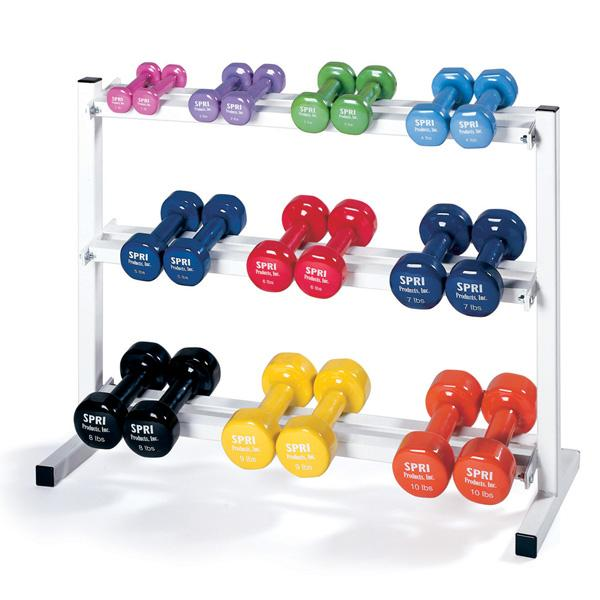 Vinyl Dumbbells (price per pair ranges from $2.98 to  $16.48)