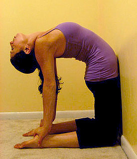 Stretch It: Upper-Back Camel Against the Wall