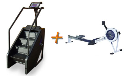 Get It Up, Your Heart Rate, That Is: StepMill and Rowing Machine