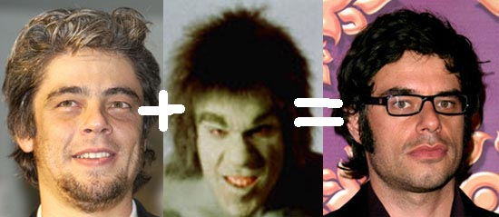 Benicio Del Toro + The Incredible Hulk = Jemaine Clement