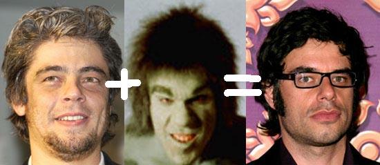 Benicio Del Toro + The Incredible Hulk = Jemaine Clement