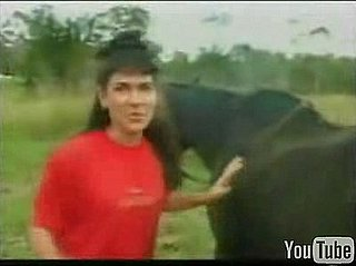 Horse Poops on Woman's Head