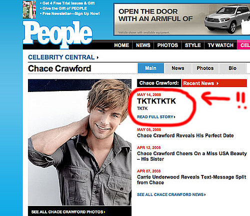 People Online Has Nothing to Say About Chace Crawford