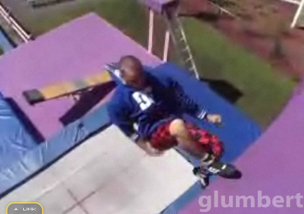 Guy Does Trampoline Wall Tricks