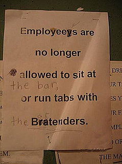 Don't Feed the Bartenders