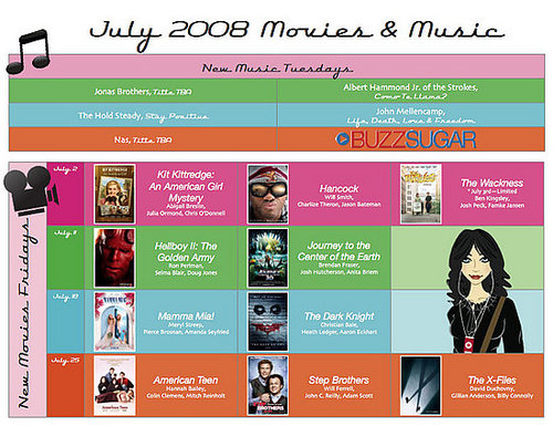 Check Out My July Entertainment Calendar!