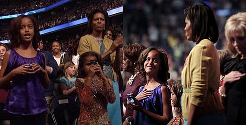 Malia and Sasha Obama Go High Tech For the Kids Ball