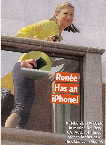 Renee Zellweger Has a BlackBerry Curve, Not an iPhone in Oops Picture