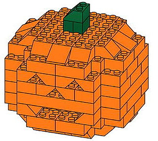 Geek Tip: How to Build a Lego Jack-o'-Lantern!