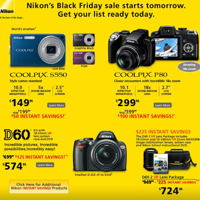 Nikon's Camera Deals