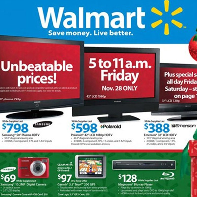 Walmart Drops Prices on TVs Too!
