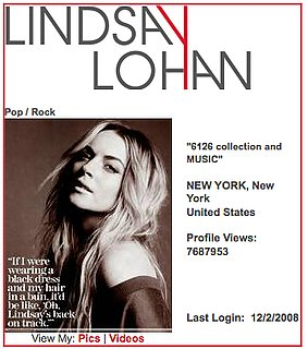 Lindsay Lohan Blasts Facebook on MySpace