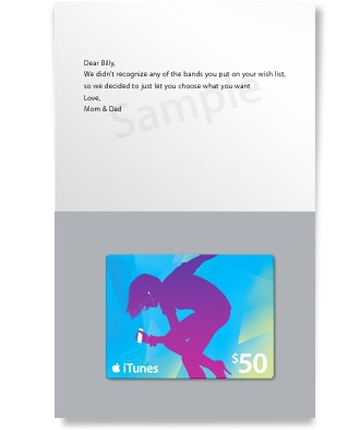Nate and Dan: iTunes Gift Cards