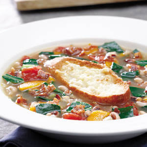 Black-Eyed Pea Soup With Collard Greens