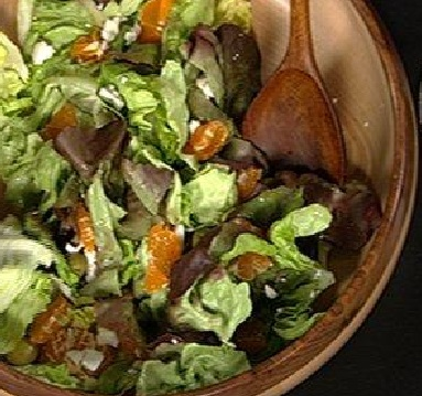 Butter Lettuce With Satsumas and Feta