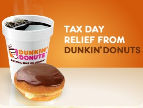 Dunkin' Donuts Offers Some Tax-Day Relief