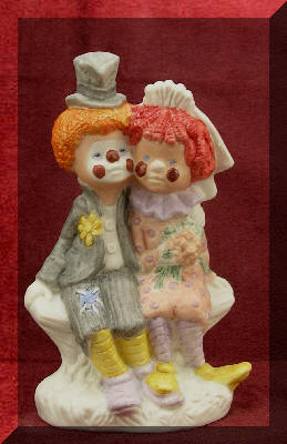 Maybe this will work if you get married at the circus, but last time I checked, a clown wedding cake topper ($175) is the epitome of tacky. Need more tacky wedding cake toppers? GiggleSugar rounded up more and they're definitely WTF? worthy! Looking for more wedding ideas? Check out IDoSugar.