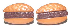 Decorate your ears with these mini burger earrings ($5.99).