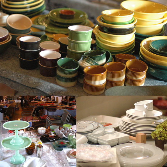 Speaking of props, although it's only a week-long shoot, there were tons of them. There are about 150-200 kinds of plates, and multiples of each of one (in case they break, or chip). If you think that is a lot, the studio prop room has over 2500 types of plates.