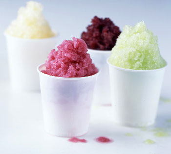Ginger-Blueberry Granita