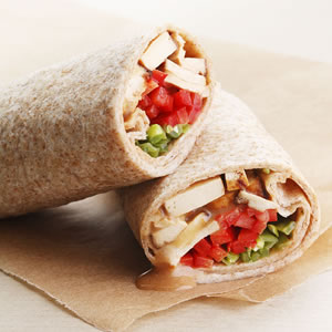 Monday's Leftovers: Peanut Tofu Wrap