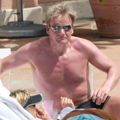 Shirtless Gordon Ramsay Shows Us His Shorts