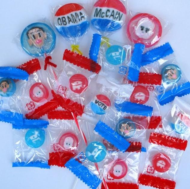Kai's Obama/McCain Lollipops