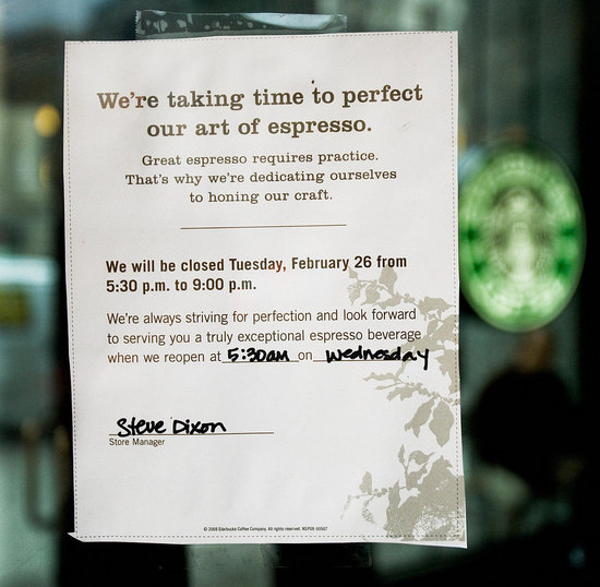 Starbucks Shuts Down to Refocus