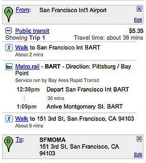 GoogleMaps Plans your Public Transportation Trips 2008-05-02 13:03:09