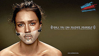 Jessica Alba's New Declare Yourself Ad in Hannibal Lechter Muzzle