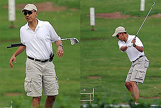Photos of President Barack Obama Playing Golf in Hawaii, 12/21/2008